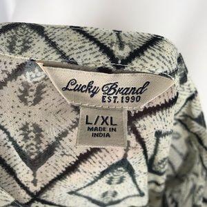 Lucky Brand Tops - Lucky Brand L XL Scarf Tunic Top Sheer Boho Flowy